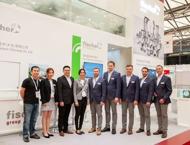 Team fischer group – Messe China 2018