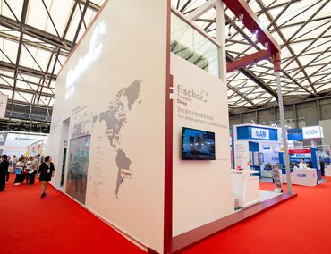 Messestand fischer group in China 2018